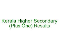 Kerala Plus One Results 2014