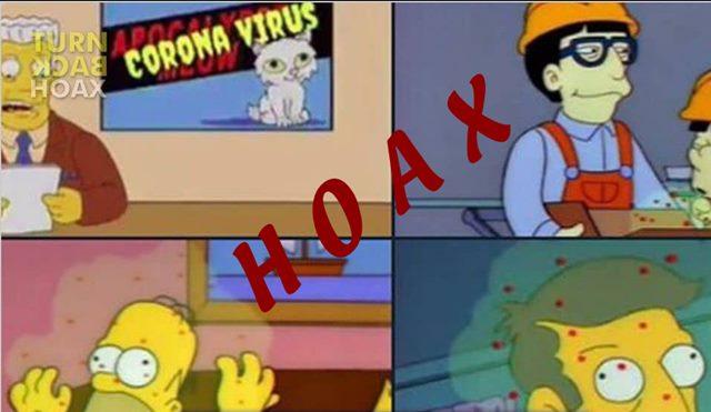 Gambar Virus Corona hoax - fb