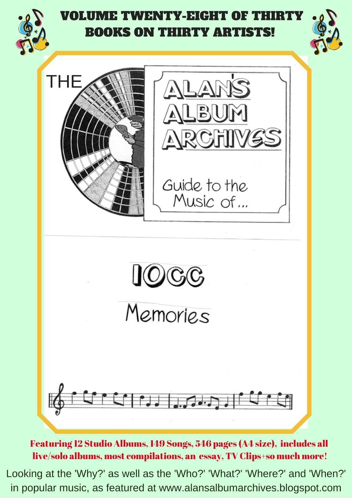 'Memories - The Alan's Album Archives Guide To The Music Of...10cc'