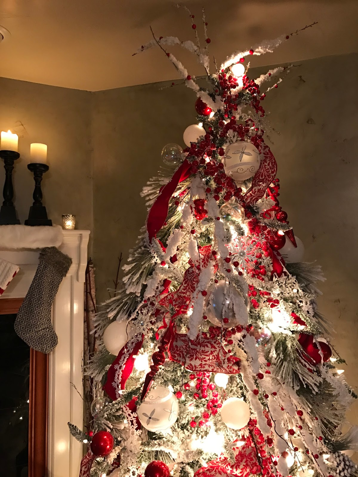 Decorated Mantel The First Day of Christmas Ideas For