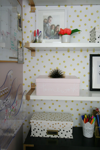 Back to school command center closet with walls need love
