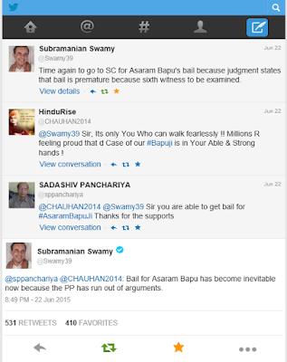 Subramanian Swamy calls Asharam Bapu innocent