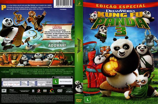 Capa DVD Kung Fu Panda 3 Edição Especial