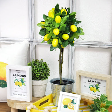 Lemon Themed DIY Modern Farmhouse Decor and Printables 🍋