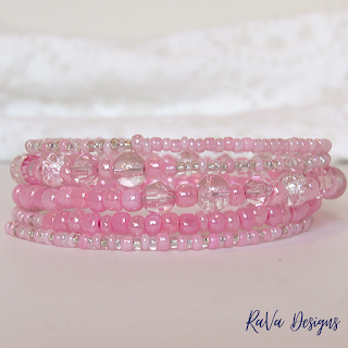 handmade pink jewelry bead patterns stacked bracelets
