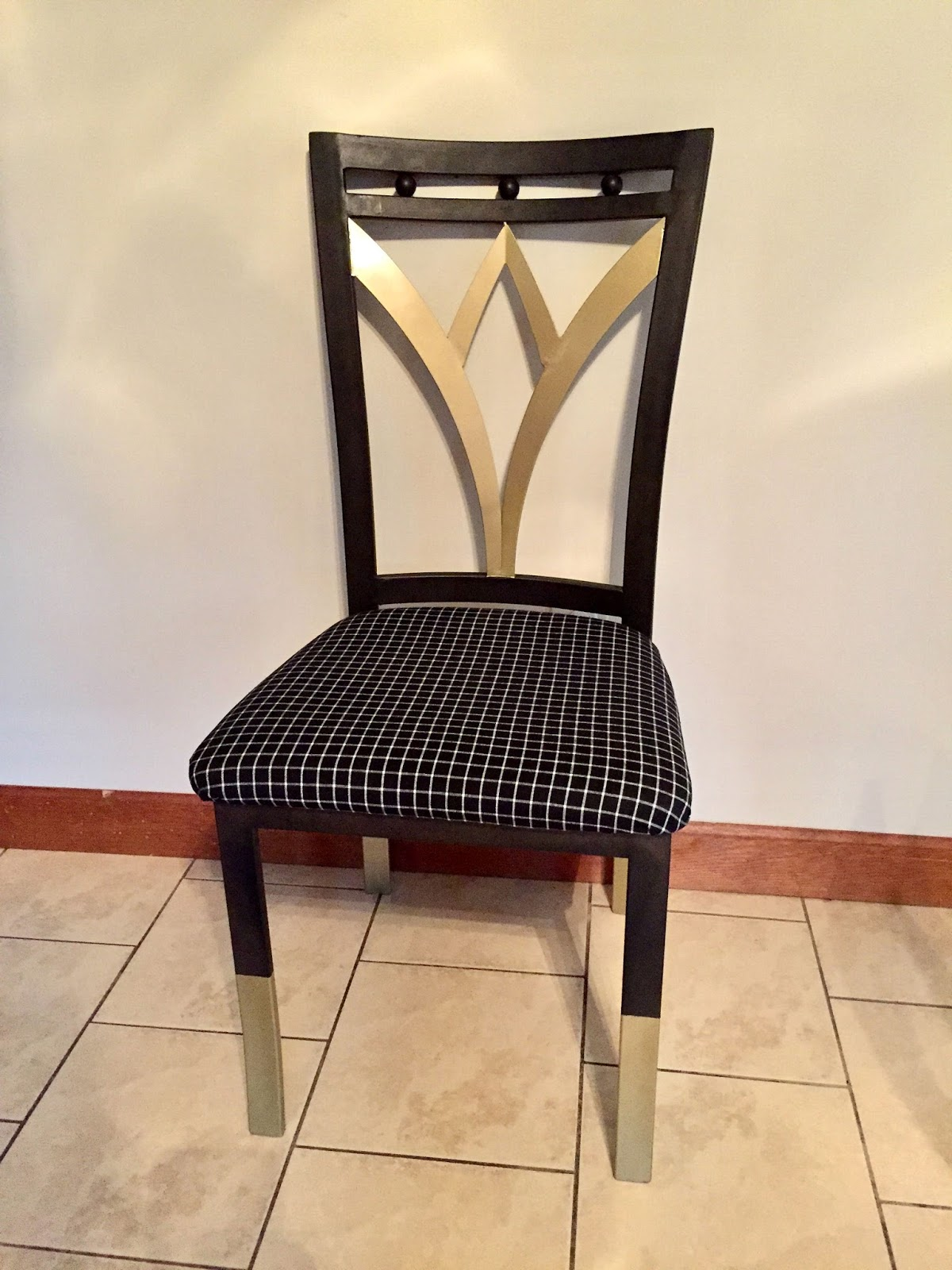Gold Fabric Dining Room Chairs