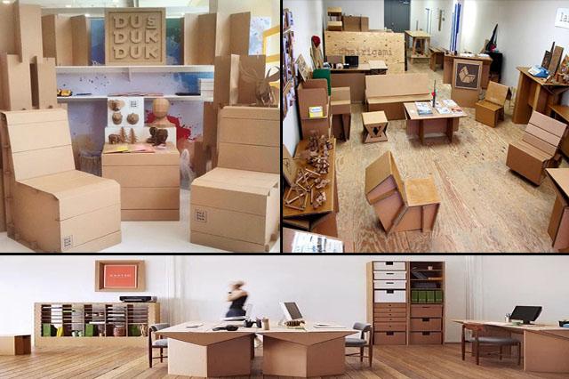 furniture yang terbuat dari kardus