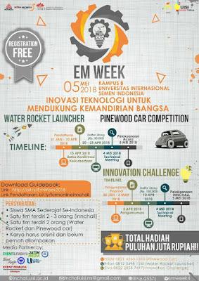 Lomba Karya Tulis, Water Rocket Launcher, dan Pinewood Car Competion di UISI [Gratis]