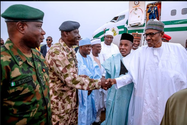 President Buhari welcomed as he arrives Daura for Eid El-kabir celebration