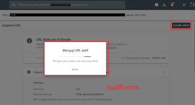 23. Uji URL Aktif pada Google Search Console