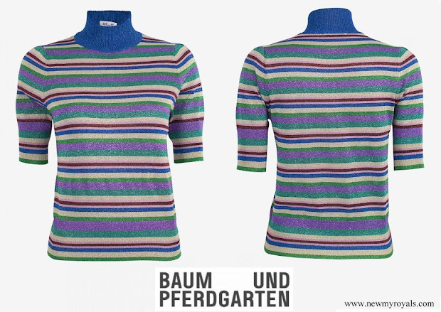Crown Princess Victoria wore Baum und Pferdgarten Camellia Sweater Top