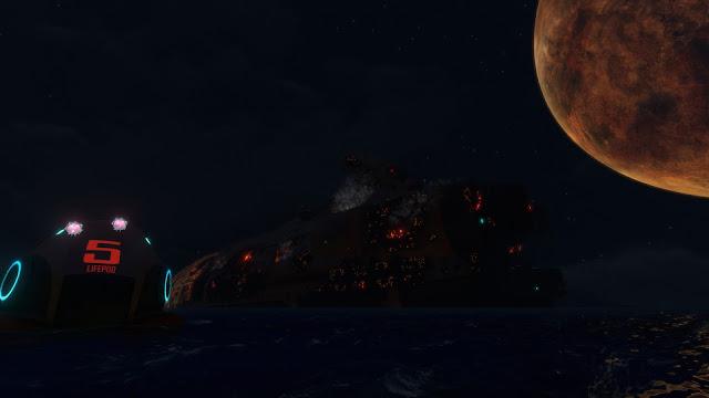 Subnautica Planet 4546B moon