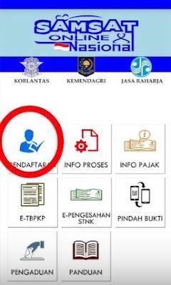 pendaftaran pembayaran pajak perpanjang stnk online