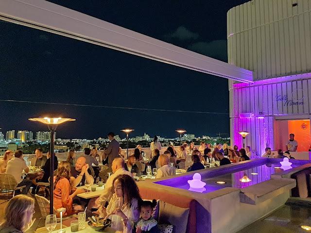 Terraza del restaurante Juvia en Miami beach