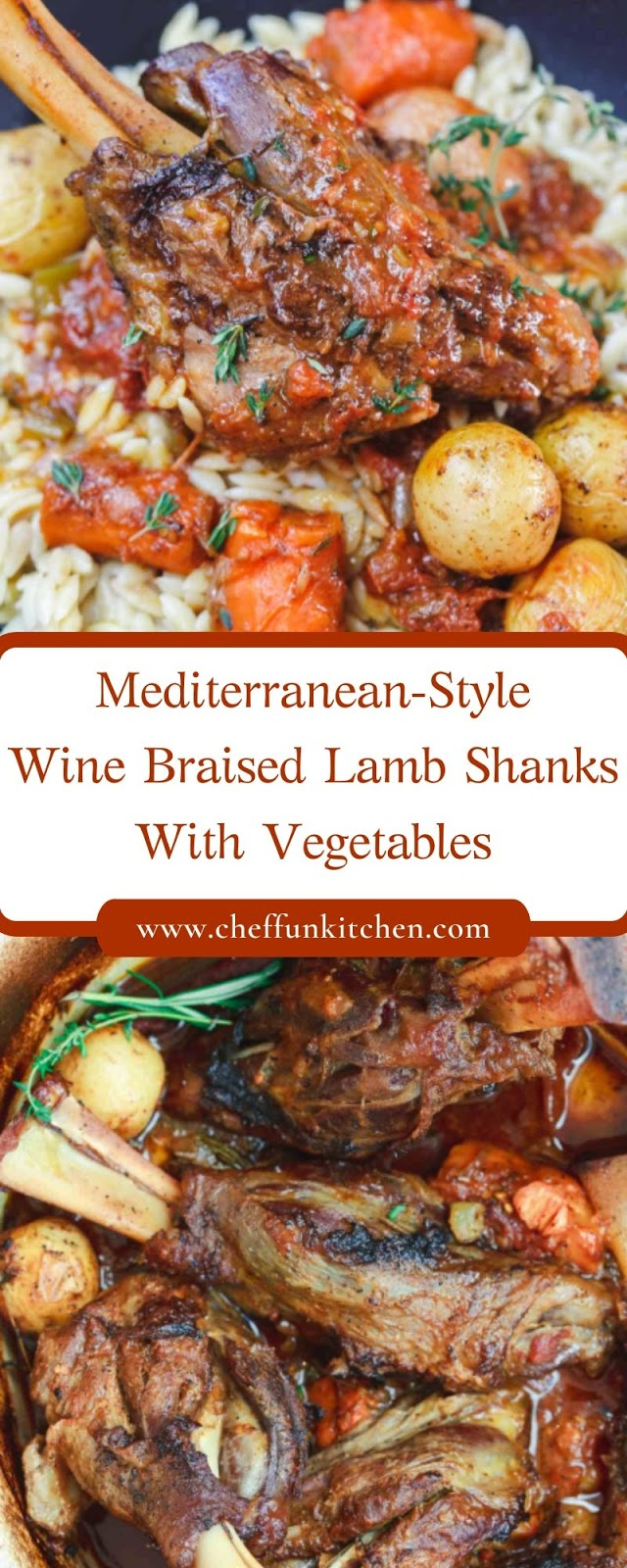 Mediterranean-Style Wine Braised Lamb Shanks With Vegetables