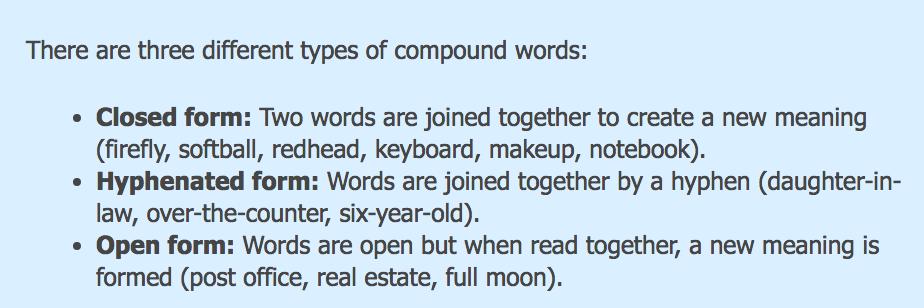 Mrs  Yollis' Classroom Blog: An Array of Compound Words