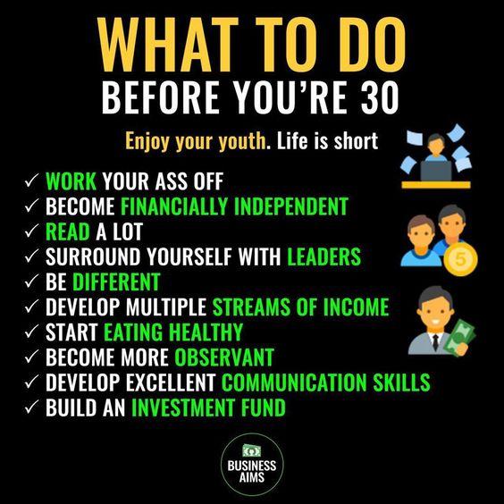 Trước 30 tuổi cần chuẩn bị những gì?