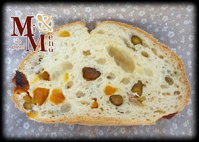 Pan con Proceli, orejones y pistachos sin gluten