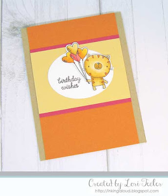 Birthday Wishes card-designed by Lori Tecler/Inking Aloud-stamps from Reverse Confetti