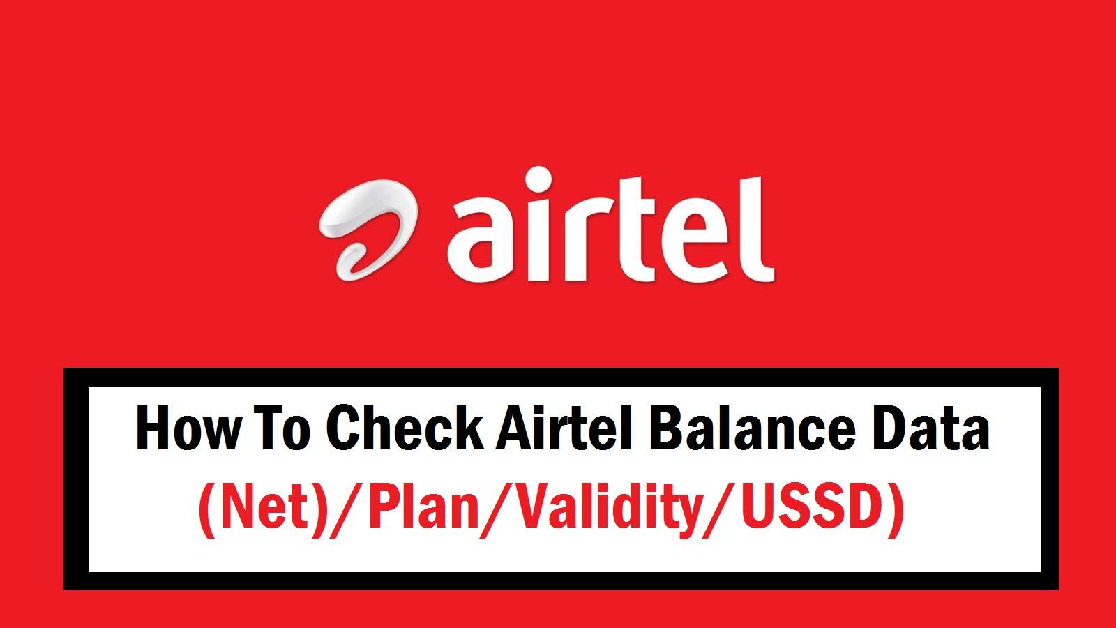 How To Check Airtel Balance Data