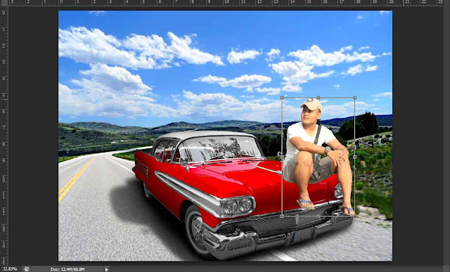 cara manipulasi menggabungkan objek foto dengan photoshop.