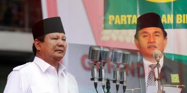 PBB: Duet Prabowo-Yusril Mampu Kalahkan Capres Pejawat