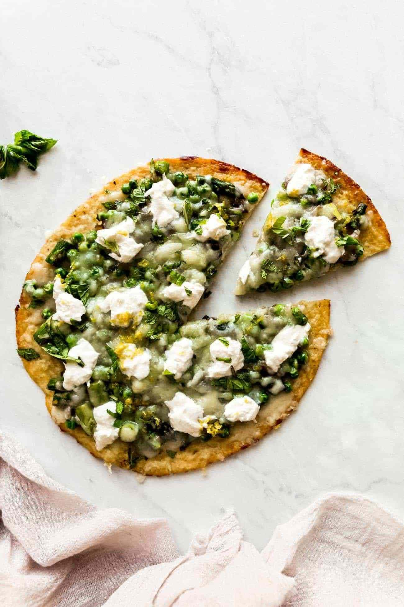Cauliflower Crust Green Pizza | Photo Courtesy of The Movement Menu