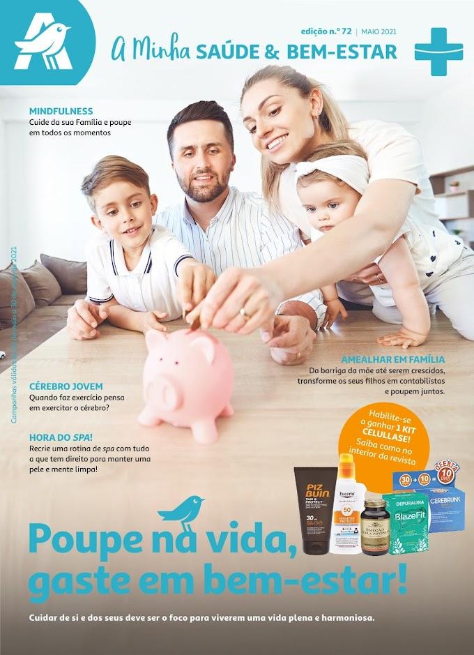 """Folheto AUCHAN - """"A Minha Saúde & Bem-Estar"""" com produtos em promoção até 30 de maio"""