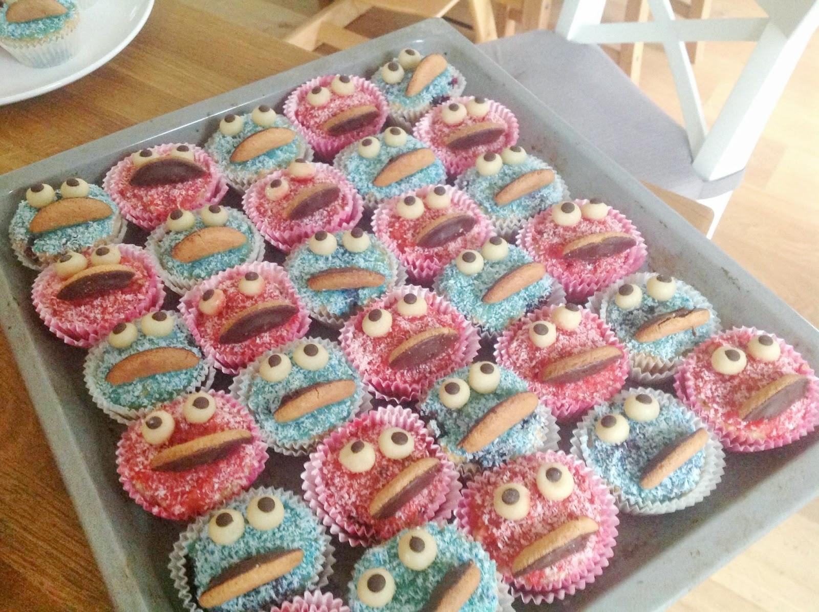 Meine Bunte Seite Krumelmonster Und Elmo Muffins