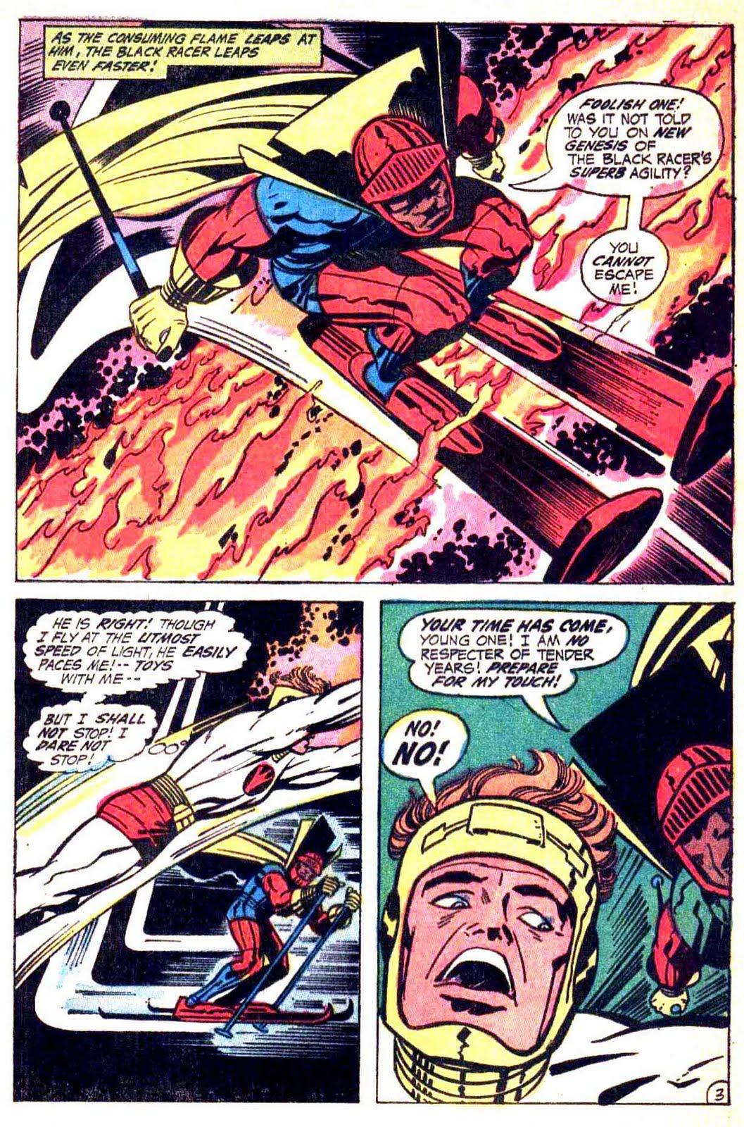 New Gods v1 #3 dc bronze age comic book page art by Jack Kirby