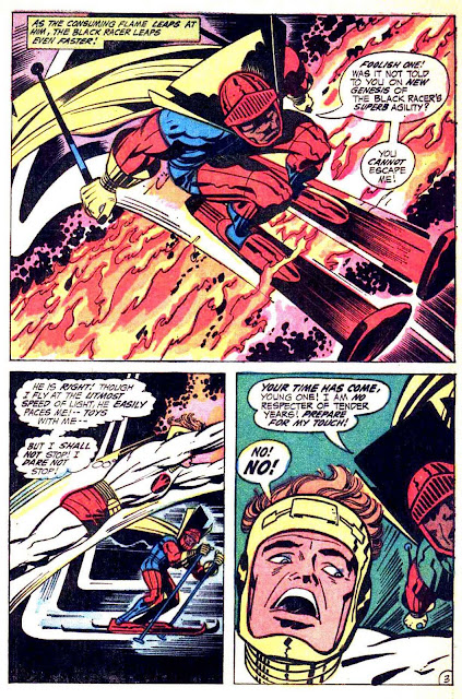 New Gods v1 #3 dc bronze age comic book page art by Jack Kirby
