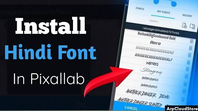 install hindi fonts in pixellab
