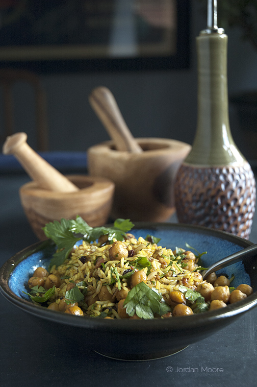 Meatless Monday: Rice with Chickpeas, Currants & Herbs