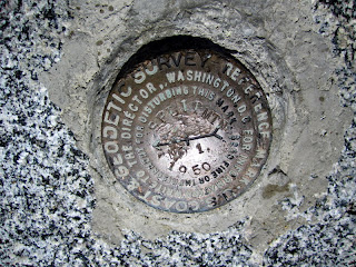 Summit marker.