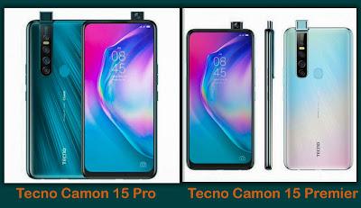 Tecno Camon 15 Pro vs Tecno Camon 15 Premier comparison