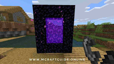 how to make nether portal in Minecraft