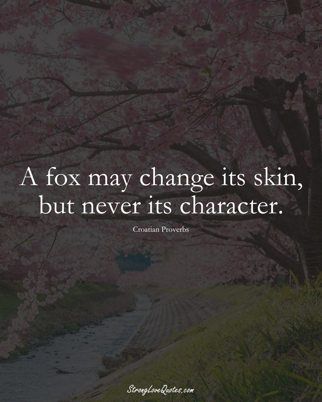 A fox may change its skin, but never its character. (Croatian Sayings);  #EuropeanSayings