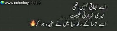 Isay Bhati Nahi Thi,  Meri Shararti Tabiyat.  Isay Tarsa K Rekh Diya Meine Sanjeeda Ho Ker..!!  #sadshayari #poetry #urdushayari
