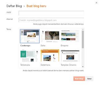 Cara membuat Blog Terbaru di Platform Blogger