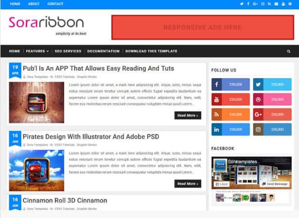 No-8-sora-ribbon-blogger-templates