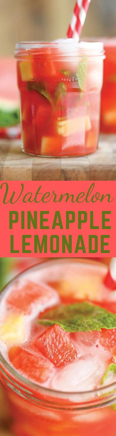 WATERMELON PINEAPPLE LEMONADE #lemonade #pineapple