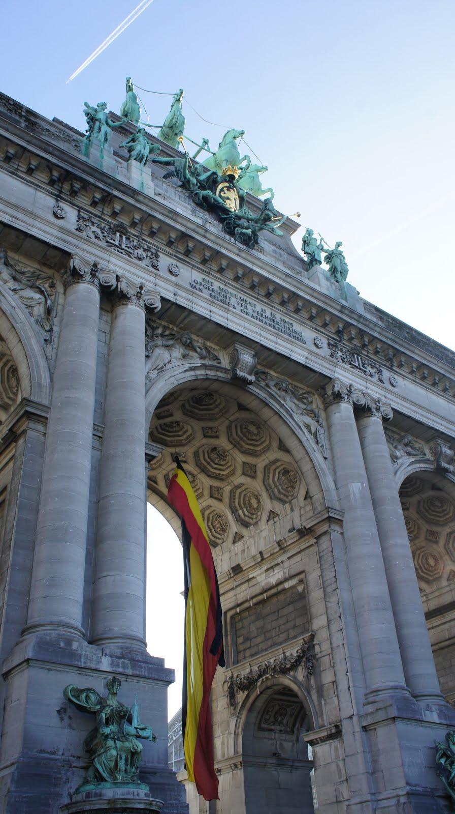 L'arc de Triomphe du parc du cinquantenaire à Bruxelles, Jubelpark in Brussels, Cinquantenaire Park in Brussels