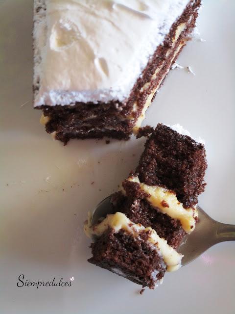 Tarta de cacao sin gluten (Siempredulces)