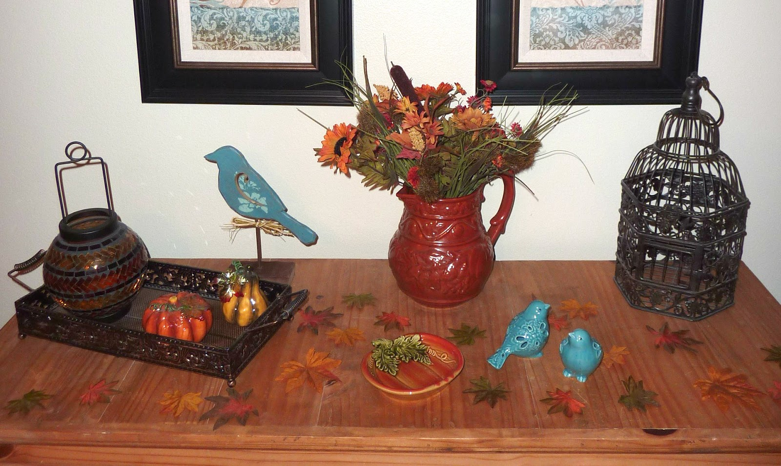 No Time To Be Bored Orange And Teal Fall Decor Quick