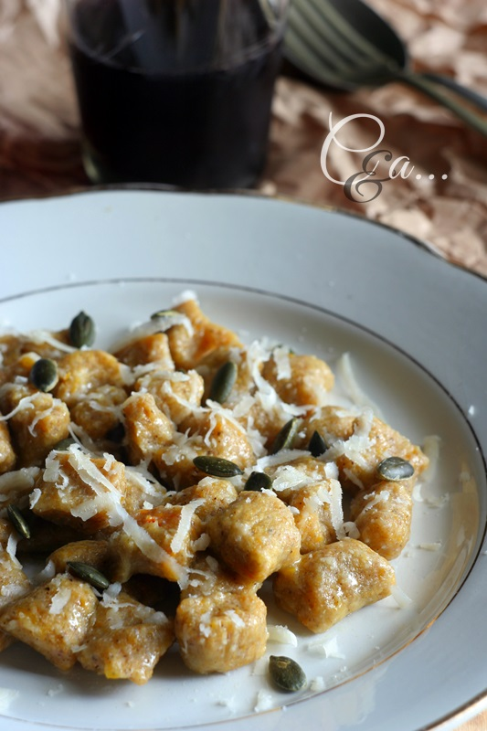 Ricetta Gnocchi Grano Saraceno.Cucinando E Assaggiando Gnocchi Di Zucca E Grano Saraceno