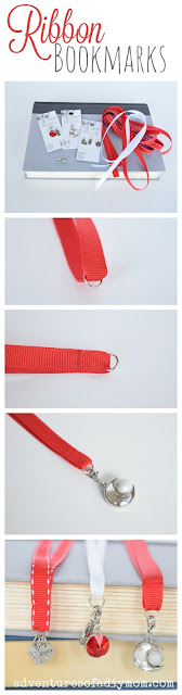 how to make a bookmark with ribbon