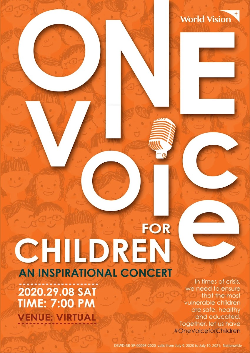 "Watch ""One Voice for Children"" Virtual Concert  and Support World Vision's Projects For Children"