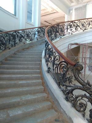 tangga layang klasik besi tempa