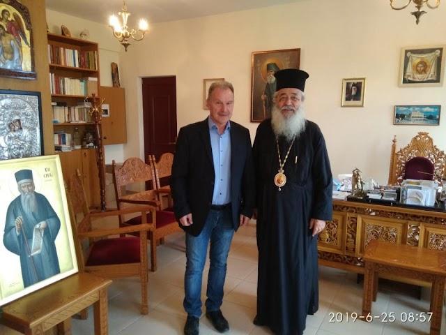 Ο Υποψήφιος Βουλευτής Φθιώτιδος κ. Γεώργιος Κοτρωνιάς στον Σεβασμιώτατο
