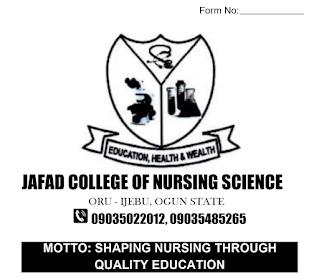 JAFAD College of Nursing Science Form 2021/2022 [UPDATED]